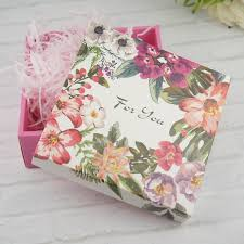 summer flower box design 14 14 5 2cm paper box wedding party candy cookie macaroon diy gift packaging gift bags wrapping supplies