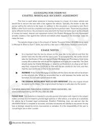 Sample Security Agreement Guideline To Chattel Mortgage And Security Agreement Motor Vehicle 7
