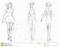 Sketch Designer Clothes Fashion Designer Stock Illustration