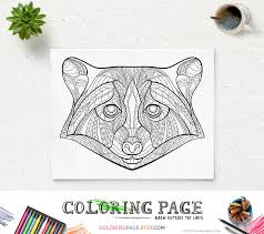 Small Picture Printable Coloring Pages Raccoon Head Animal Coloring Page