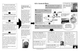 9 11 Cause And Effect Chart With Questions Graphic