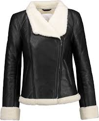 w118 by walter baker faux shearling lined leather biker jacket