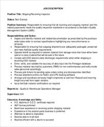 Shipping Receiving Job Description Leyme Carpentersdaughter Co