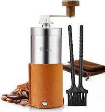 The javapresse coffee grinder is the manual grinder that includes the conical burrs. Amazon Com Portable Manual Coffee Grinder Set Professional Conical Ceramic Burrs Stainless Steel Grinder Easy To Clean For Home Travel Outdoor Kitchen Dining