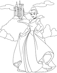 Coloring Pages Cinderella Coloring Pages Pretty Princess Ready To
