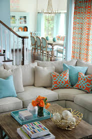 Homely Ideas Aqua Living Room Stunning Design Orange And Aqua Blue Coastal Living  Room
