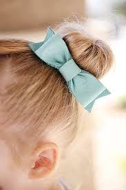 diy leather hair bows