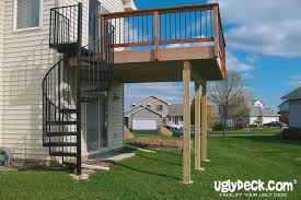 outdoor spiral staircase with deck ideas