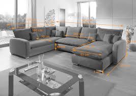 Wohnlandschaft Stoff Grau Sofa Couches Wohnlandschaften