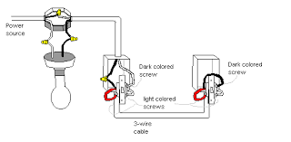 wiring diagram two switches one light images wiring two lights to the dark screw and white red light colored screws