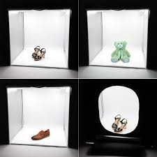 pro photo box studio kit led lighting desktop portable softbox photo box studio kit led lighting