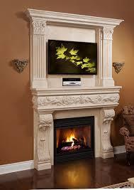 venetian majestic series stone fireplace mantel