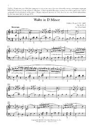 chopin spring waltz sheet music waltz in d minor piano solo by chopin f small j w pepper
