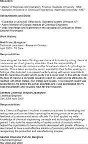 Chemical Engineer Resume Experienced Chemical Engineer Resume