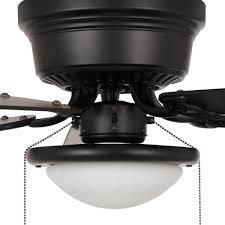 modern 132cm ceiling fan black