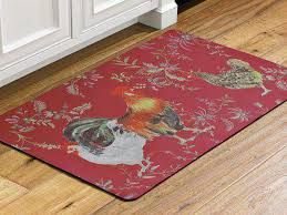 rooster kitchen rugs walter drake area french country room accent back to design wildlife decorative items cabin leather rug western rustic cowhide lodge