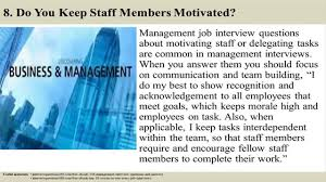 136 Management Interview Questions And Answers Youtube