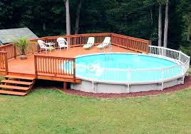 Above ground pool with deck attached to house 24 Foot Above Ground Pool With Deck Packages Above Ground Pool Safety Fence Above Ground Pools Fence Kits Zwaluwhoeveinfo Above Ground Pool With Deck Packages Carinsurance1dayinfo