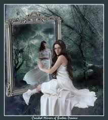 mirror reflection different. mirror reflection different