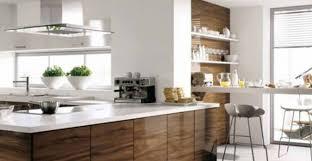 kitchen modern granite. Modern Kitchen White Granite Countertop On L Shaped Cabinet With Shelving Also Panel Appliances
