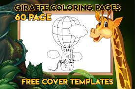 Imagenes de sombras de animales. Giraffe Coloring Book For Kids Graphic By Mk Design Creative Fabrica