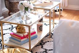 ikea nesting tables gold
