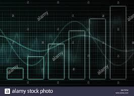 Stock Chart Art Finance Spreadsheet Chart Data As Abstract Art Stock Photo