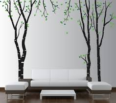 birch tree wall decal kids room nursery