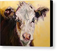 bed head cow canvas print canvas art by diane whitehead