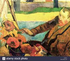 the painter of sunflowers vincent van gogh by paul gauguin 1888