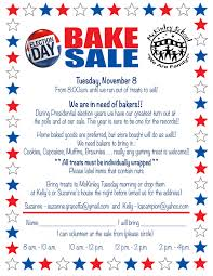 Pta Elections Flyer Calling All Bakers To Supply Treats For This Years Election Day