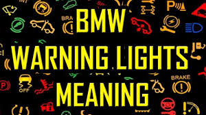 Service Light Meaning Bmw Warning Lights Meaning