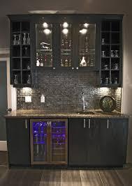 Home Basement Bars Home Wet Bar Design W Glass Backsplash Kitchen Designs By Delta