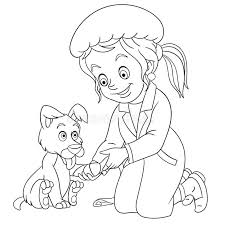 Stats on this coloring page. Coloring Page Girl Dog Stock Illustrations 179 Coloring Page Girl Dog Stock Illustrations Vectors Clipart Dreamstime