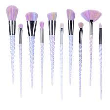 ammiy unicorn makeup brushes set fantasy makeup tools foundation powder eyeshadow cream cosmetics unicorn brushes kit with case 10pcs by ammiy