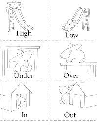 3 In 1 Opposites Game Preschool Worksheets Kindergarten Animals Out ...