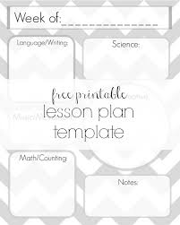 downloadable lesson plan templates free lesson plan template printable delicate construction