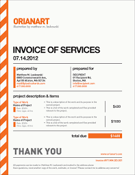 Example Of Invoice Mesmerizing Very Nice Invoice Design By Orianart Beautiful Invoices