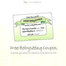 Banner Babysitting Coupon Free Certificate Template Literals