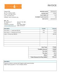Simple Invoice Template Open Office Colorium Laboratorium Beautiful