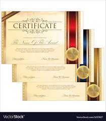 Golden Certificate Template Set