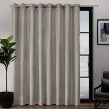 l linen blend grommet top curtain panel