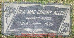 Ola Mae Crosby Allen (1914-1970) - Find A Grave Memorial