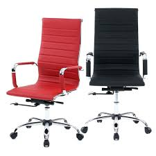 high back office chair leather executive office chair ergonomic leather mid back executive comter desk task