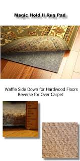 magic hold ii reversible thick 2 x 4 area rug pad detail