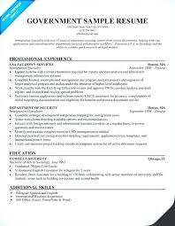 Sample Federal Resume Beauteous 28 Unique Federal Government Resume Example Resume Template