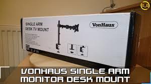 vonhaus single arm monitor desk mount budget tech 3