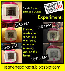 calories burned during and after tabata power from insanity max 30