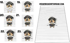 Small Picture How to Draw a Cool 3D Rottweiler Puppy Dog Biting a Line from