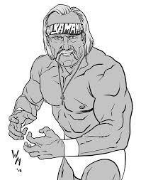 Drawing tutorials of hulk hogan. Wrestling Hulk Hogan Coloring Pages Coloring And Drawing